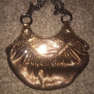 Whiting & Davis metallic bronze snakeskin sequin